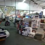 Exposition accessoires et équipements du bateau