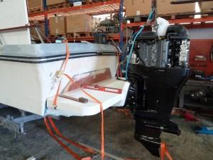Positionnement, contrôle et traçage du bracket moteur